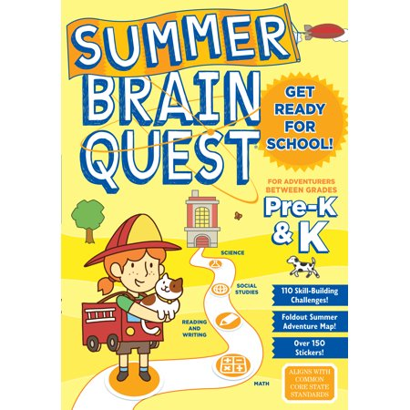 Summer Brain Quest: Between Grades Pre-K & K - Paperback](Pre K Halloween Music)
