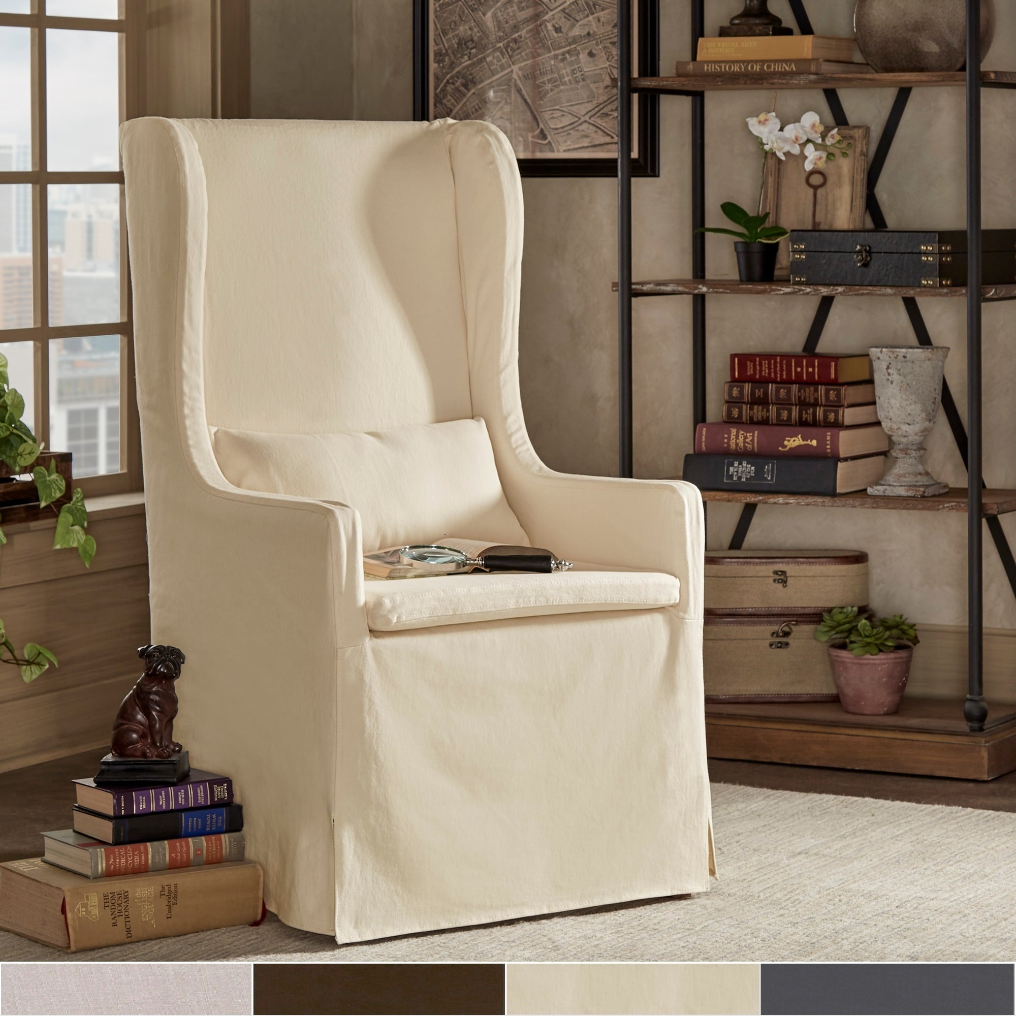 iNSPIRE Q Potomac Slipcovered Wingback Host Chair by  Artisan