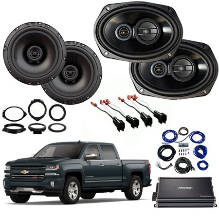 Chevrolet Silverado 1500 Crew 14-18 Factory Speaker Upgrade R69 R65 CXA300.4