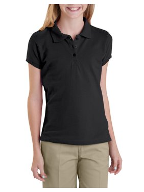 Dickies Girls School Uniform Short Sleeve Pique Polo