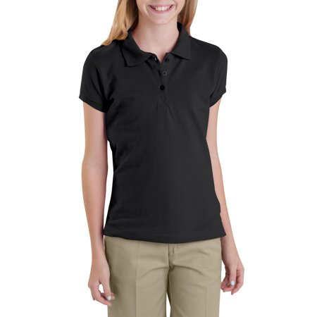 - Genuine Dickies Short Sleeve Pique Polo (Big Girls)