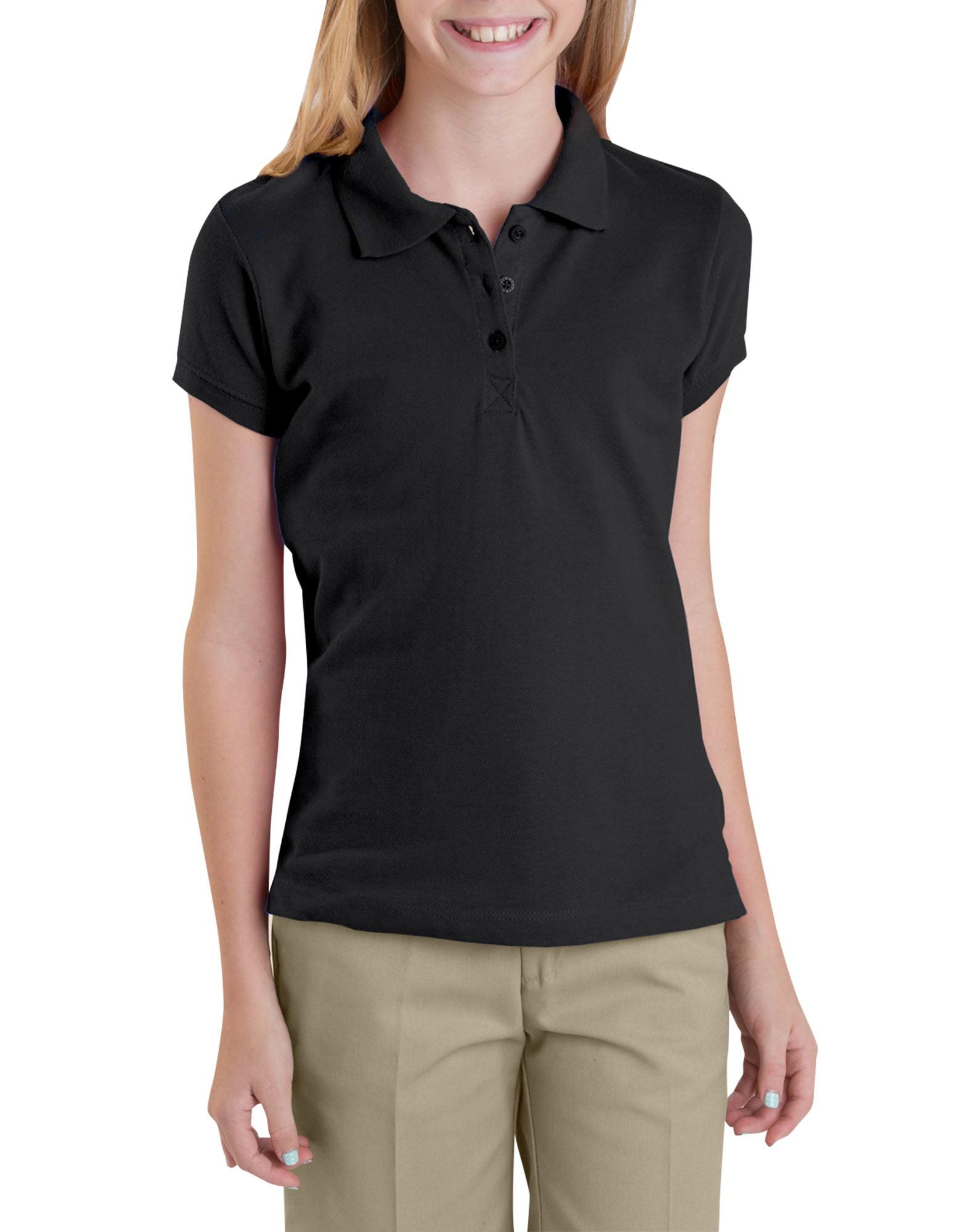 Girls' Short Sleeve Pique Polo (Big Girls)