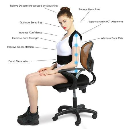 Yosoo Adjustable Back Posture Corrector Brace Back Shoulder Support Belt Posture Supports Correction - image 1 de 5