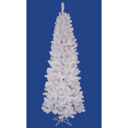 5.5' Pre-Lit Crystal White Upside Down Artificial Christmas Tree - Warm White LED Lights