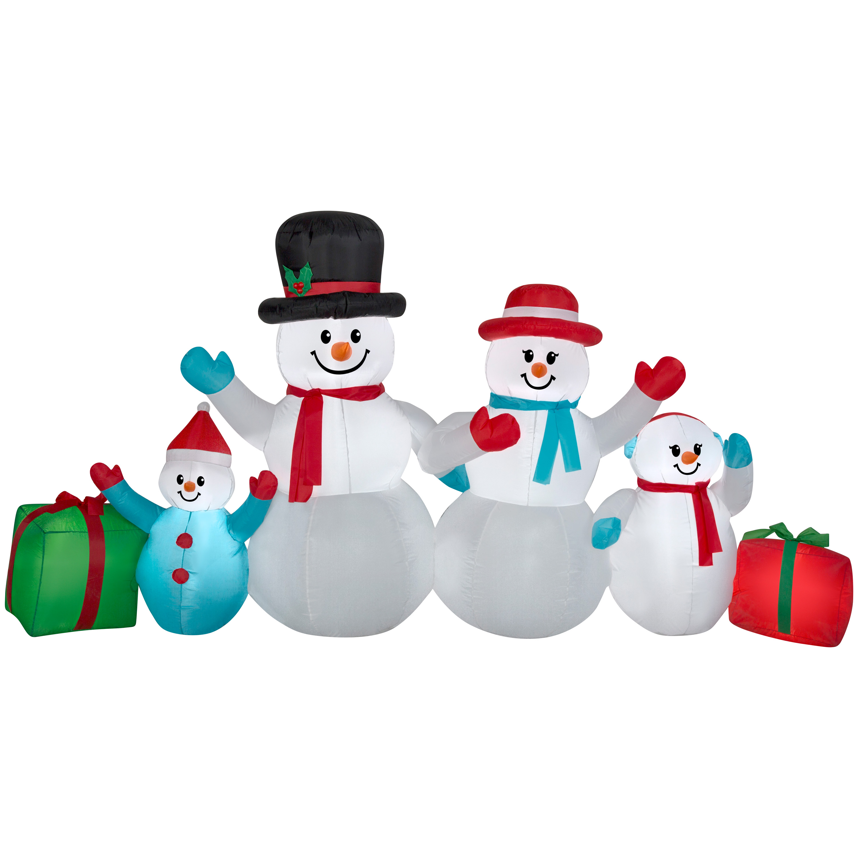 Image of Airblown Christmas Inflatable Winter Snowman Collection Scene 9' wide