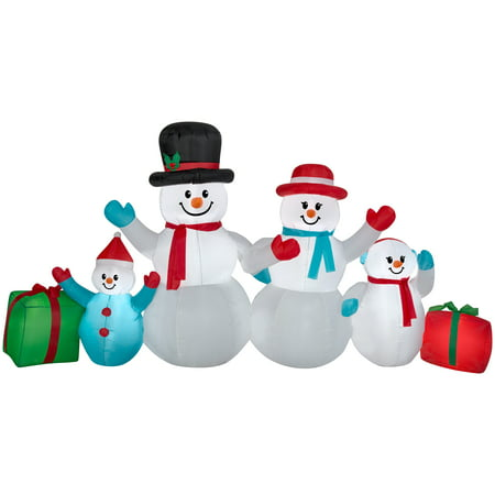 Airblown Christmas Inflatable Winter Snowman Collection Scene 9' wide