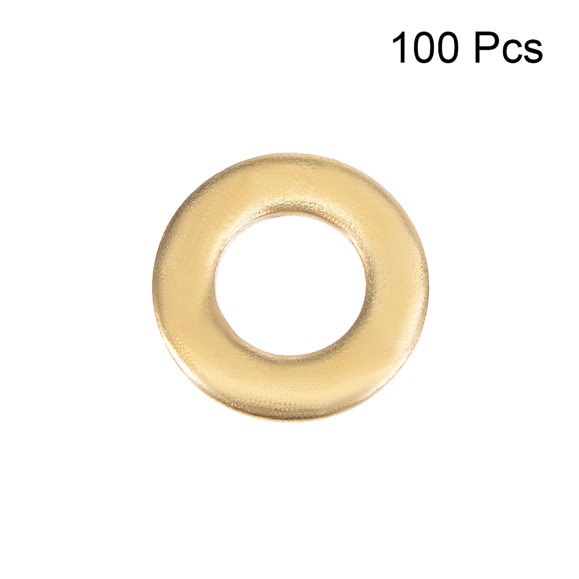 100Pcs 2.5mm x 5mm x 0.5mm Copper Flat Washer for Screw Bolt - image 1 de 3