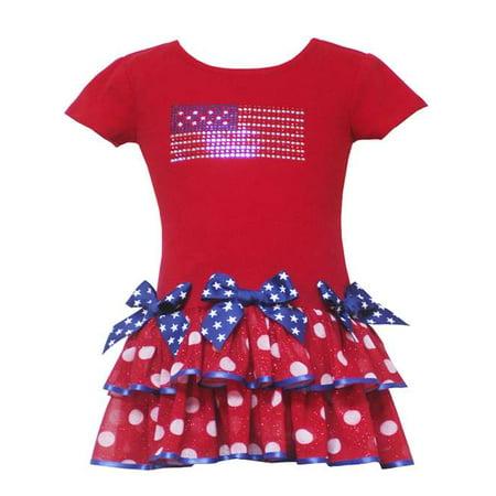 Patriotic Dress Womens (Girls Pageant Dress -  Red Patriotic Tutu Dress 2T FINAL SALE)