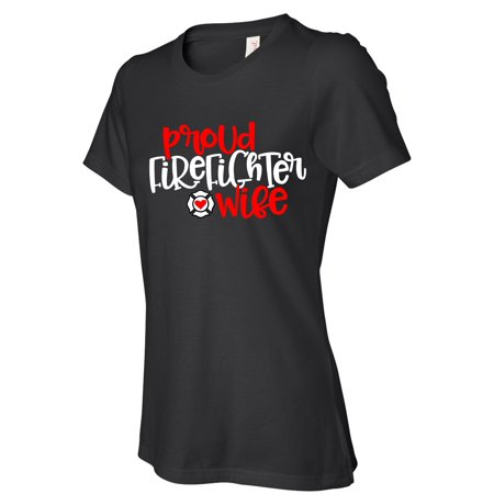 Firefighter Wife women t shirts, Funny t-shirt - Hot Women Firefighters