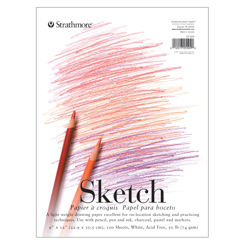 "6/"" x 8/"" High Quality Spiral Premium Quality Sketch Book Paper Pad 50 Sheet"