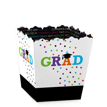 Hats Off Grad - Party Mini Favor Boxes - Graduation Party Treat Candy Boxes - Set of 12](Graduation Hat Favor Boxes)
