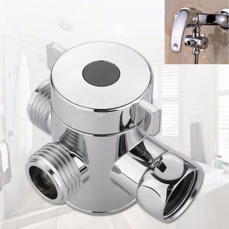 1/2 Inch Three Way T-adapter Valve For Toilet Bidet Shower Head Diverter Valve (0.5 3 Way Diverter)