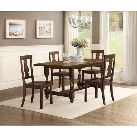 Better Homes and Gardens Providence 5 Piece Dining Set with Wood Chairs