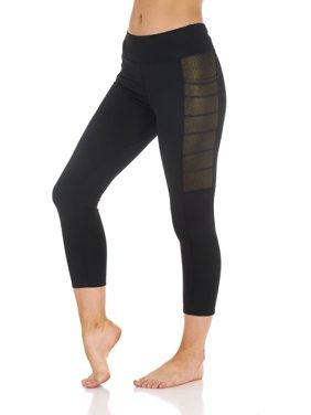 87c4278961174f Product Image Women's Active Metalic Capri Leggings with Pocket