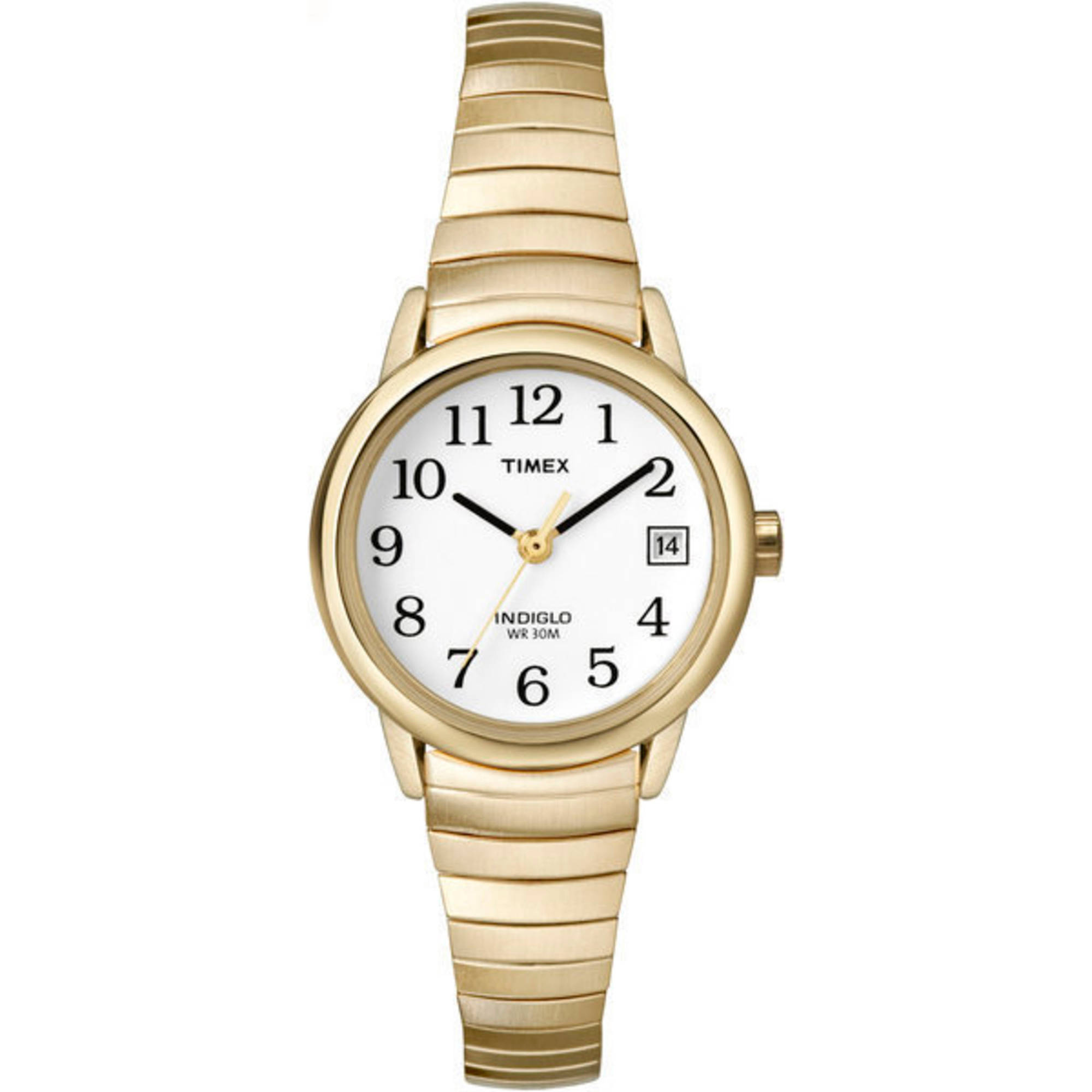 Timex Women's Easy Reader Watch, Gold-Tone Stainless Steel Expansion Band by Timex