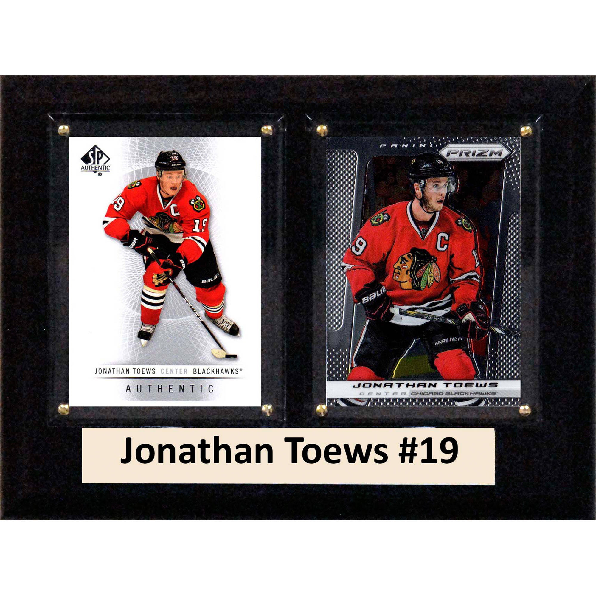 C&I Collectables NHL 6x8 Jonathan Toews Chicago Blackhawks 2-Card Plaque