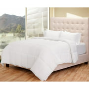 Premium Box Stitched All Season Down Alternative Comforter Full / Queen Duvet Insert - (Full/Queen White)