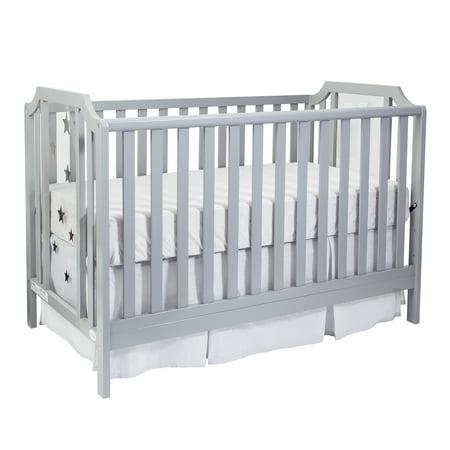 Suite Bebe - Celeste 3-in-1 Convertible Island Crib in Light Grey (Cunas De Bebe)