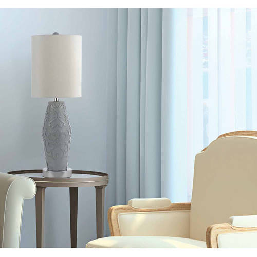 AF Lighting Sweet Dreams Table Lamp with White Shade, Black Resin