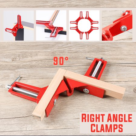 - 3 inch/75mm 90 Degrees Right Angle Corner Clamp Aluminum Alloy, Miter Picture Photo Frame Corner Clamp Holder, Glass Holder, DIY Woodworking Hand Tool for Wood Metal