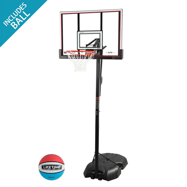 Lifetime Adjustable Portable Basketball Hoop (48-Inch), 90227