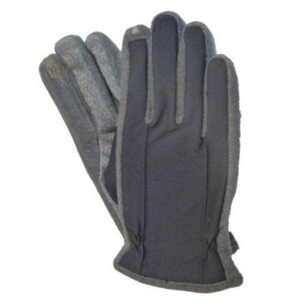 Isotoner Smart Touch Men Charcoal Gray Touchscreen Gloves for Texting IPhones