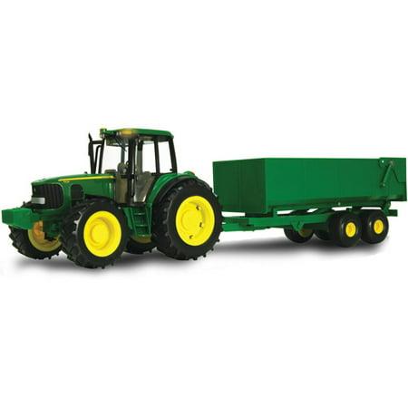 Tomy 1 16 Scale Big Farm John Deere Tractor With Wagon