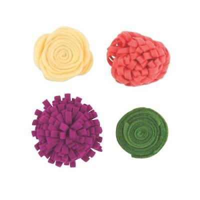 Mixes Magenta Felt Flowers 2PK