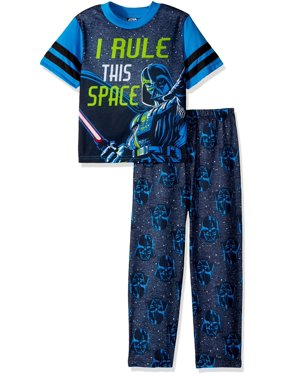 b2d2c5a7a Product Image Star Wars Boys' Galactic 2-Piece Pajama Set, Space Black,  Size: