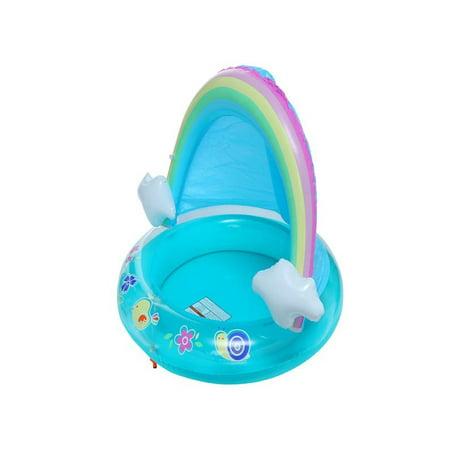 OkrayDirect Baby Pool, Rainbow Splash Pool With Canopy, Spray Pool Of 40In, Water Sprinkler