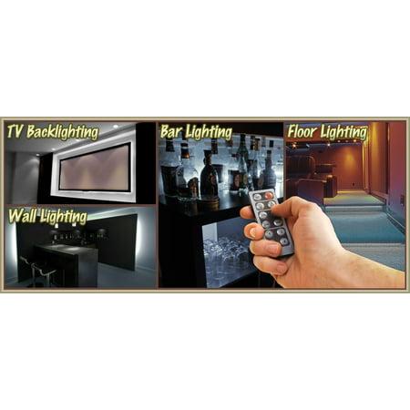 Biltek 32.8' ft Cool White Bar Liquor Cabinet Wine Cellar LED Backlight Accent On/Off Switch Kit 100V Plug - Sports Memorabilia Bar Theatre Room TV Wine Cellar Dart Board Waterproof 110V-220V - image 2 of 5