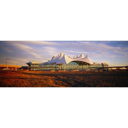 Clouded sky over an airport Denver International Airport Denver Colorado USA Stretched Canvas - Panoramic Images (8 x 10)