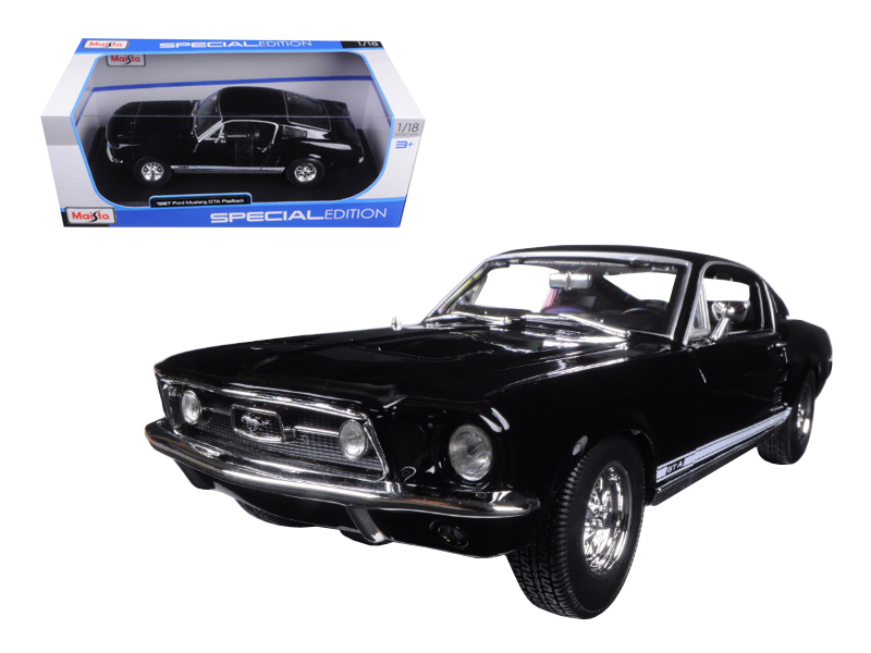 1967 Ford Mustang GTA Fastback Black 1 18 Diecast Model Car by Maisto by Maisto