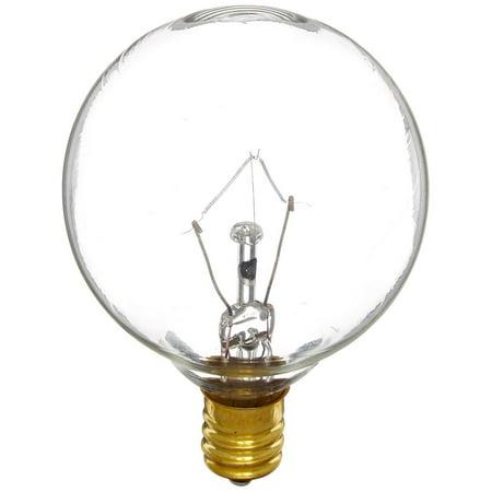 40G16CL3 40W G16 Globe 130V Candelabra Light Bulb, Clear, G40 48 Volt 3000 120V Ct 100W diameter Light Pack 12 Incandescent Hour Lightbulb G165 G16 1 2 125V Bulb.., By Bulbrite