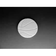 """Ceramic bisque bi1355 unpainted unfinished basketball coaster 4"""" dia. x 1/2 """" Thick"""