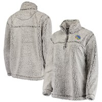 Golden State Warriors G-III Sports by Carl Banks Women's Sherpa Quarter-Zip Pullover Jacket - Gray