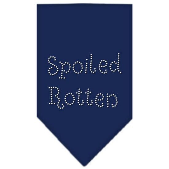 Spoiled Rotten Rhinestone Bandana Navy Blue Small