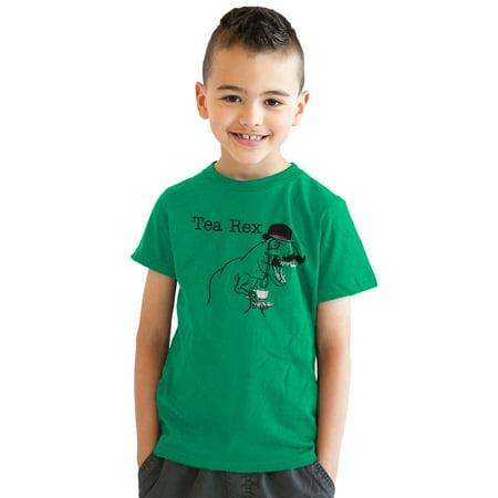 3e08a6ca634 Crazy Dog Funny T-Shirts - Youth Tea Rex T-Shirt Funny Dinosaur Gentleman  Monicle T-Rex Tee for Kids - Walmart.com