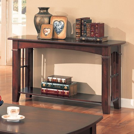 Coaster Furniture Cherry Finish Sofa Table (Decorating A Sofa Table Behind A Couch)