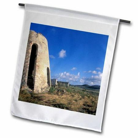 - 3dRose Sugar Mills Plantation, St. Croix, Virgin Islands, US Polyester 1'6'' x 1' Garden Flag