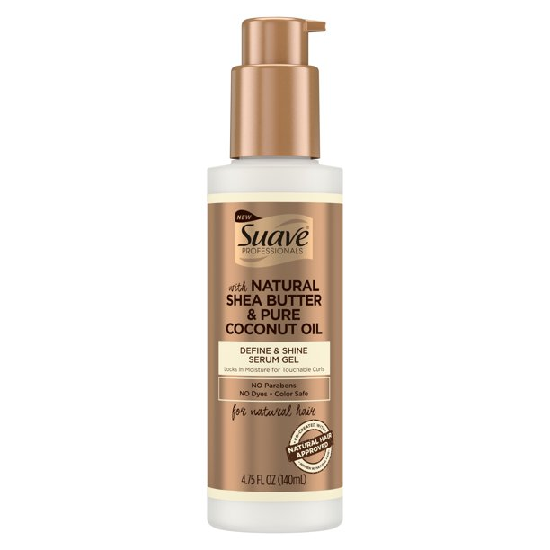 Suave Professionals for Natural Hair Define & Shine Gel Serum 4.75 oz