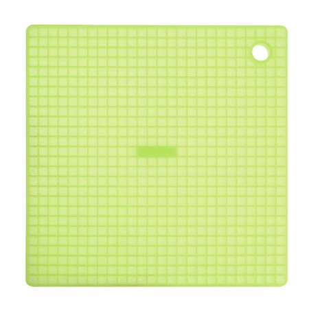 INNOKA Silicone Non-stick Square Soft Grid Pot Holder & Heatproof Heat Resistant Mat - Translucent Green - The Potholder
