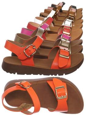 Reform9KA by Flourish, Baby Toddler Comfort Flat Sandal - Unisex Infant Size Open Toe Shoe
