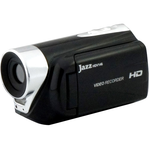 "Jazz Hi-Definition Video Camcorder with 2"" Swivel LCD, 8MP CMOS Sensor, 4x Digital Zoom"