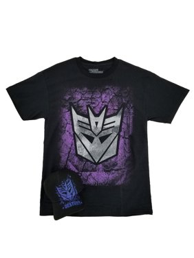 a12cac69211 Product Image Transformers Hasbro Mens Black Decepticon T-Shirt   Baseball  Hat Combo