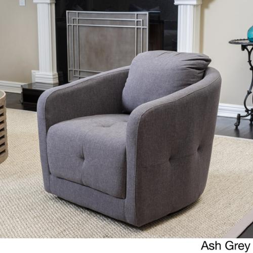 Christopher Knight Home Concordia Fabric Swivel Chair Ash Grey