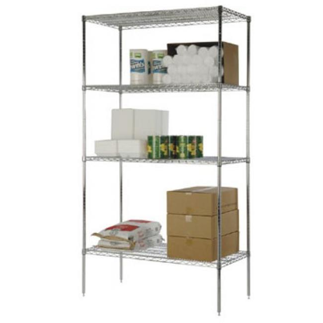 FocusFoodService FF2472C 24 in. W x 72 in. L Wire Shelf - Chrome
