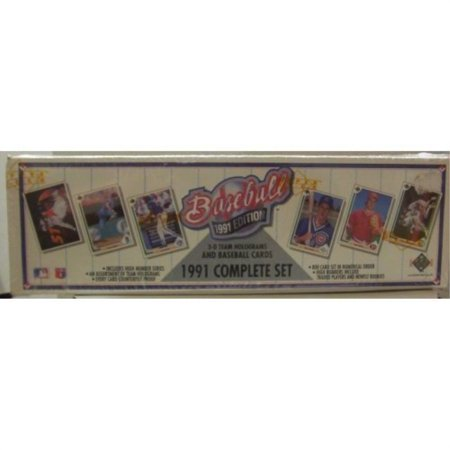 1991 upper deck mlb baseball cards complete factory set (800 (1991 92 Upper Deck)