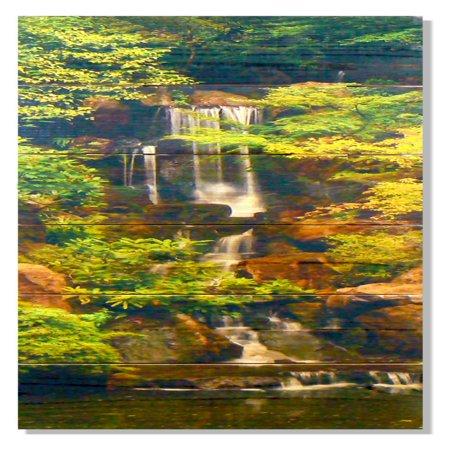 Gizaun Art Forest Waterfall Indoor Outdoor Wall Art