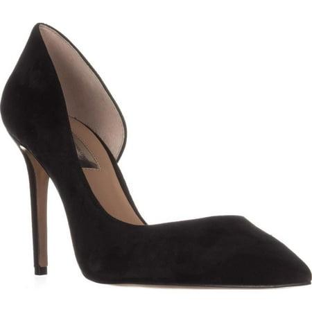 Womens I35 Kenjay Pointed Toe D'Orsay Heels, Black - Ladies Block Heel